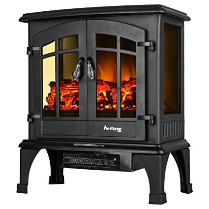 Awesome Jasper Portable Electric Fireplace Stove By E Flame USA (Matte Black)   This