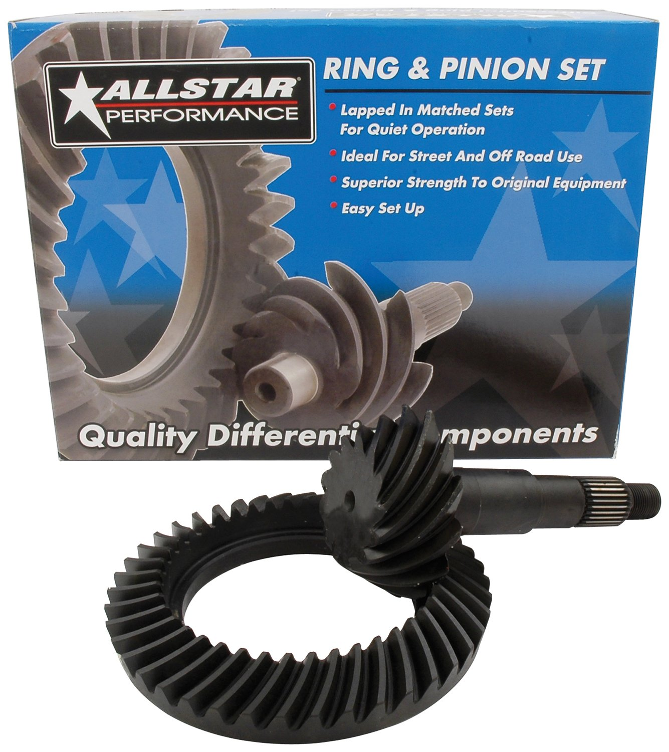 Allstar Performance ALL70117 7.5'' 4.10 Thick Ring and Pinion Gear Set for GM by Allstar