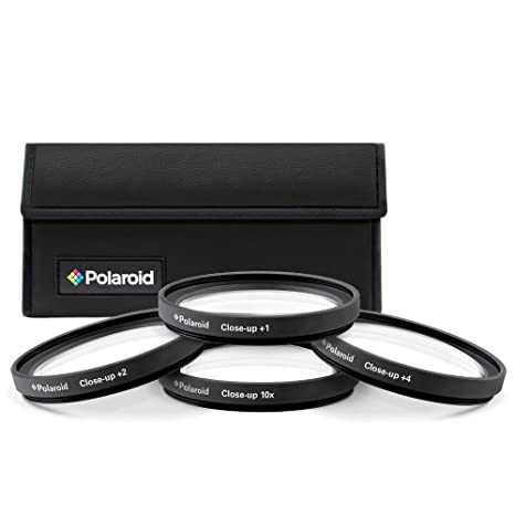 Polaroid Optics 52mm 4-Piece Filter kit Set for Close-Up Macro Photography