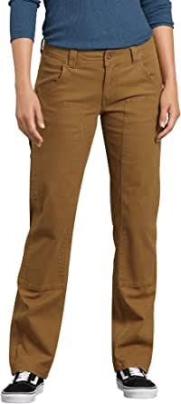 Dickies Women's Stretch Duck Double Front Carpenter Pant, Rinsed