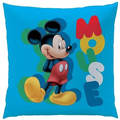 Disney Mickey Story Cojín poliéster, Azul 40 x 40 cm: Amazon ...