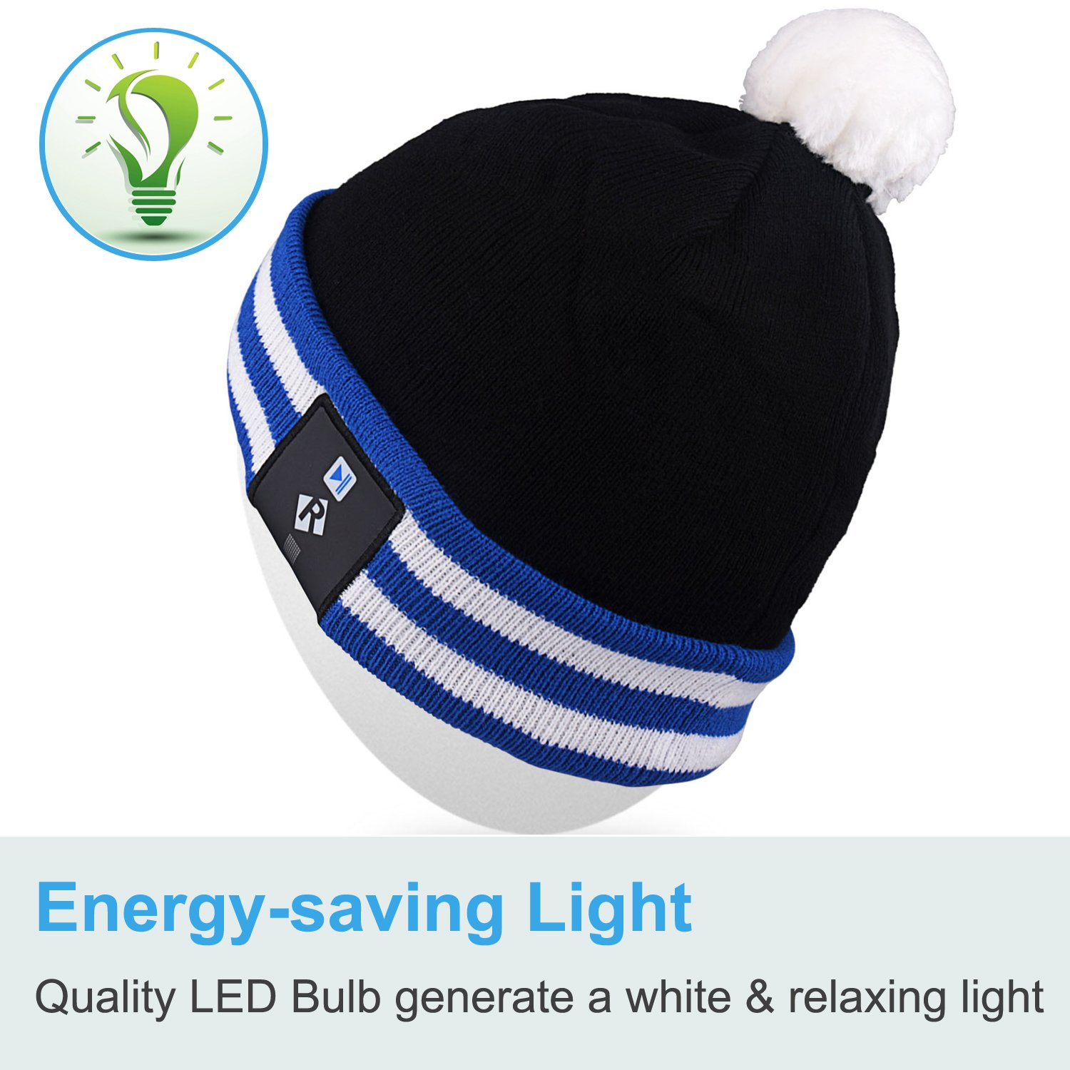 Rotibox Stylish LED Light Up Beanie Hat Knit Cap Best Presents for Unisex Men Women Indoor and Outdoor Bar Festival Holiday Christmas Gifts Celebration Parties