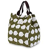 WAWJ 5 Pattern Picnic Cool Bag Cold Insulated Lunch Bag For Women Water Resistant Canvas Cute Girls Lunch Bags for Kids (Hedgehog print)