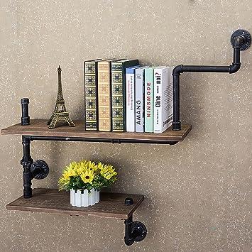 AIDELAI Storage Racks Shelf Goods Iron Retro Bookshelf American Industrial Style Wall Creative Solid