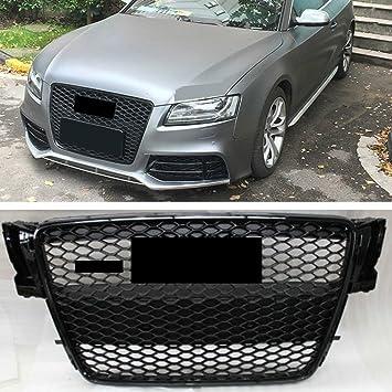 Rejilla delantera para radiador AudiA5 S5 B8 RS5 2008-2012, color negro