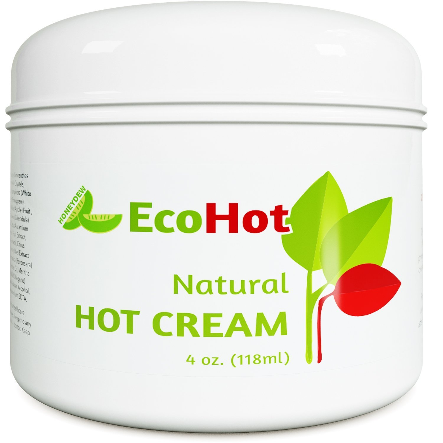 Natural Skin Tightening Cream - Anti Aging Body Treatment for Women + Men - Anti Cellulite Stretchmark + Scar Remover - Muscle Pain Relief - Antioxidant Hot Cream Gel Moisturizer For Dry + Saggy Skin by Honeydew