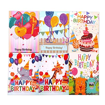 Birthday Card Making Kits 5 D Diamond Painting For Kids Art Craft Hobby Supplies Perfect Birthday Gifts For Girl Boy Make 6