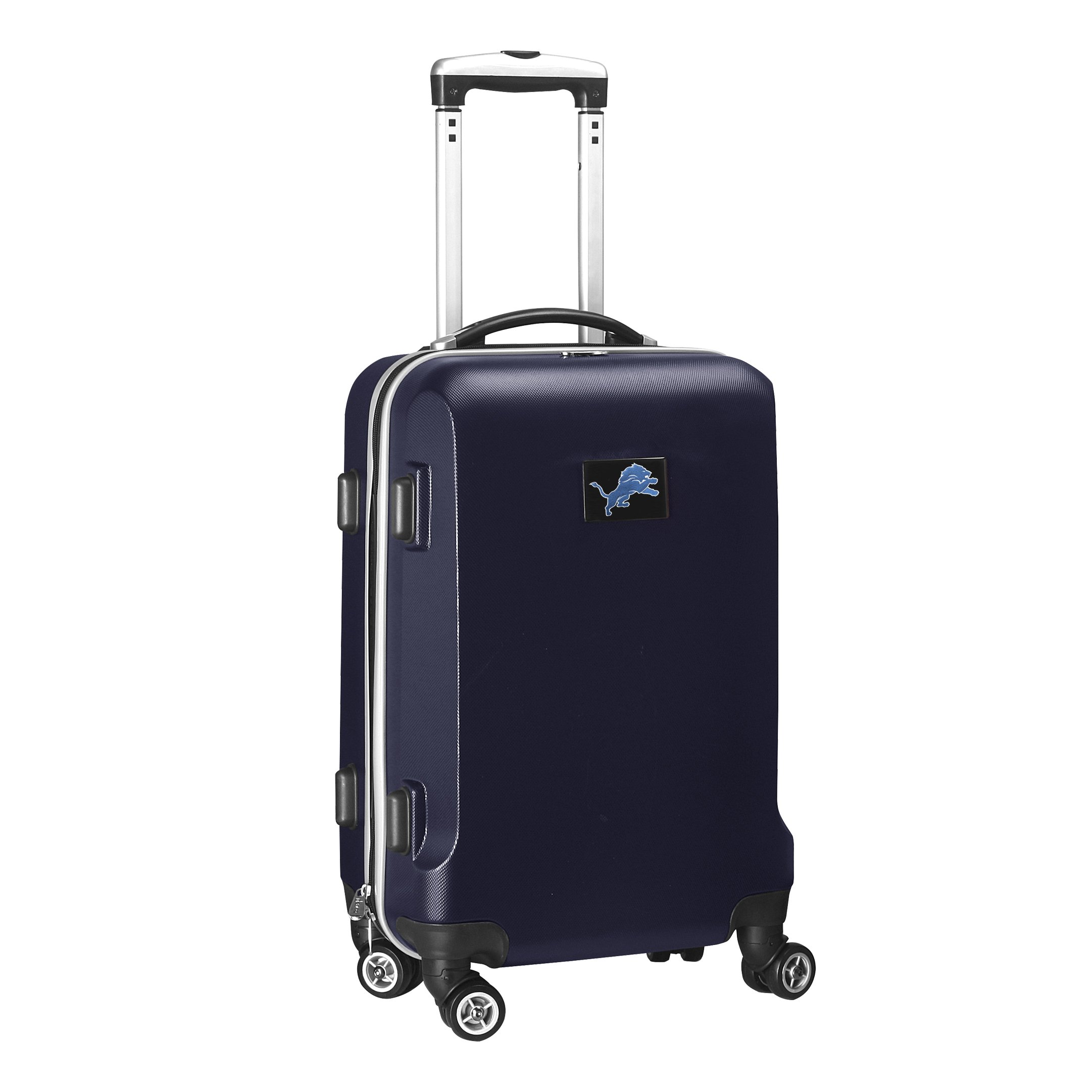 NFL Detroit Lions Carry-On Hardcase Luggage Spinner, Navy by Denco (Image #2)