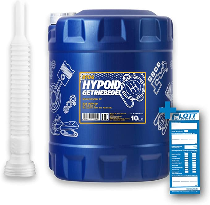 Mannol 10l Hypoid Gear Oil 80w 90 Api Gl 4 Gl 5 Ls Outlet Hose Auto
