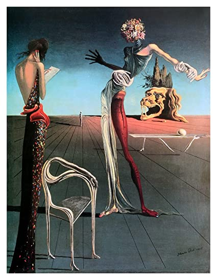 amazon com woman with a head of roses by salvador dali art print