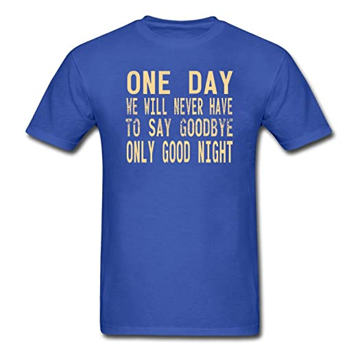 a151c9b09e7 Amazon.com: ZWEN Men's One Day We Will Never Have To Say Goodbye ...
