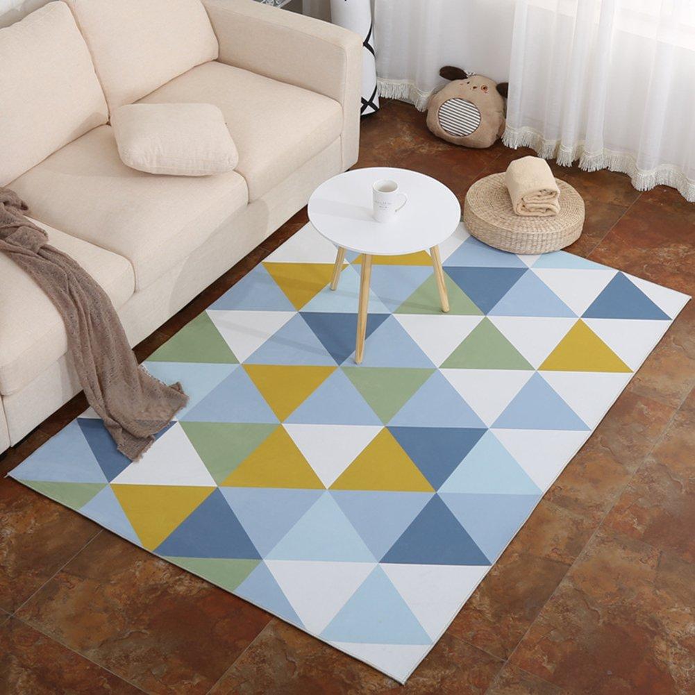 GZHOUSE Indoor Geometric Area Rugs for Living Room Bedroom Floor Carpet Non-slip Rugs Mats