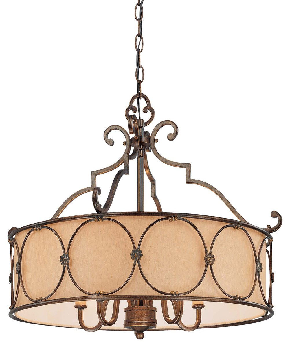 Minka Lavery 4236-288, Atterbury, 5 Light Chandelier with Shade, Deep Flax Bronze by Minka Lavery
