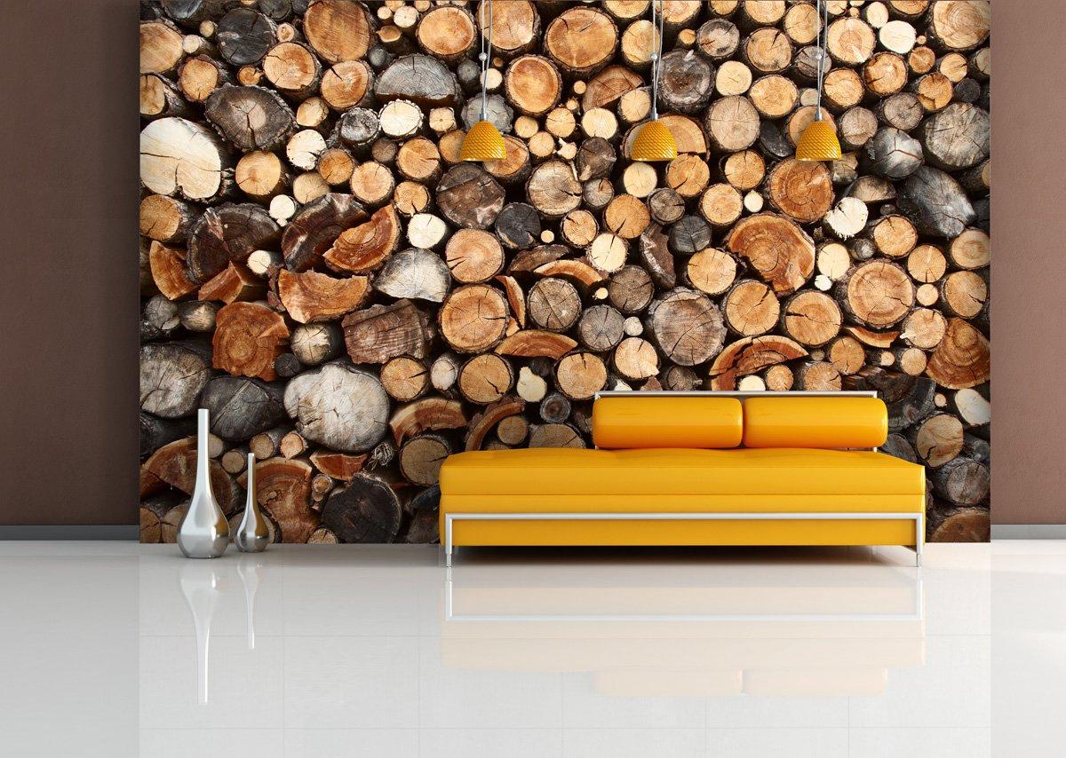 Fototapete Firewood - weitere Größen und Materialien Materialien Materialien wählbar - DEUTSCHE PROFI QUALITÄT von Trendwände B00WCKMJE6 Wandtattoos & Wandbilder 50792b