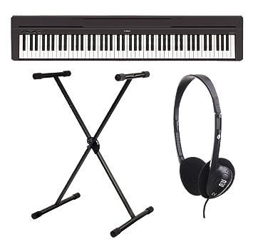 Yamaha P-45B - Piano digital / Set de piano de escenarios con soporte para