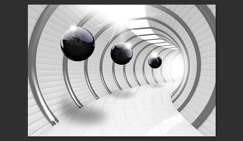 Murando - Fototapete Abstrakt 400x280 400x280 400x280 cm - Vlies Tapete - Moderne Wanddeko - Design Tapete - Wandtapete - Wand Dekoration - Tunnel Kugel 3D schwarz-weiß a-C-0001-a-a B0189D2AQ6 Wandtattoos & Wandbilder 939776