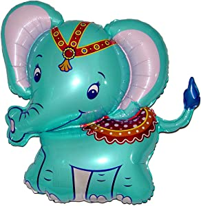 SPACE PET Anti-Gravity Hovering Flying Floating ELEPHANT Blue 34 inch Toy Pet Balloon Party Favor