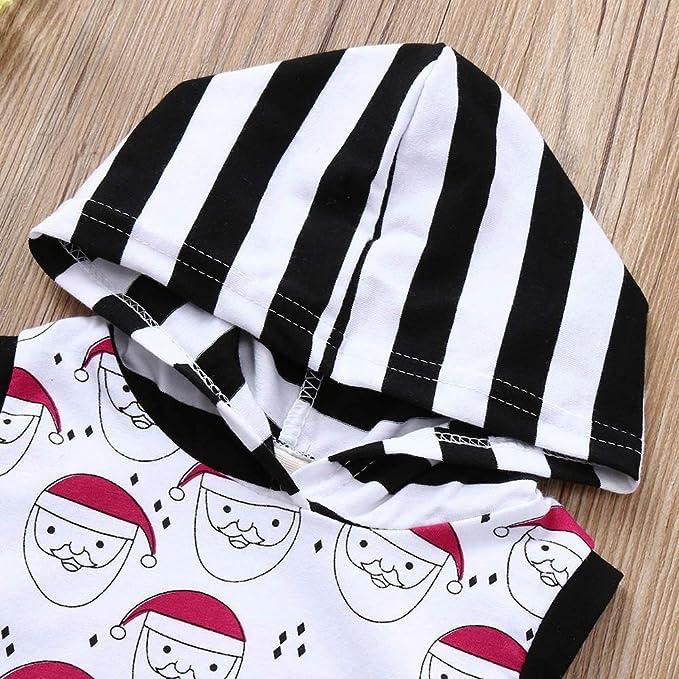 Ropa Bebe,Abrigo Niña,Infantil De Santa Santa Con Estampado De Rayas De Navidad Con Capucha Mono Mameluco Ropa: Amazon.es: Bebé