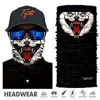 TEFITI Animal Face Shield Mask Bandana Face Tube Scarf for Camping, Running, Hiking, Biking, Motorcycling, Fishing, Hunting And Sun UV Protection