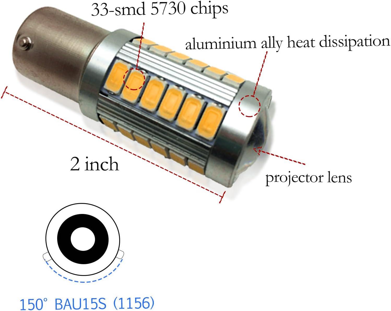 YaaGoo bright fog lights LED DRL bulbs 3157, Yellow