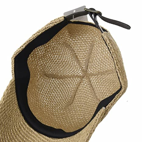 WITHMOONS Baseball Cap Summer Paperstraw Mesh for Men Women KR1960 (Beige)   Amazon.co.uk  Clothing 86834aacb8e7