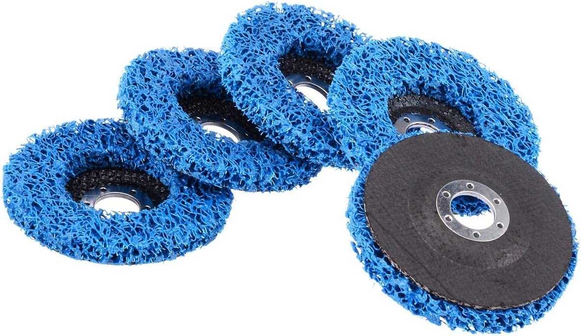 Tiamu 5Pcs Disques De Meuleuse Dangle De Nettoyage De D/éPouille De Rouille De Bleu De Peinture De Roue De 115Mm Pour Des Outils Abrasifs