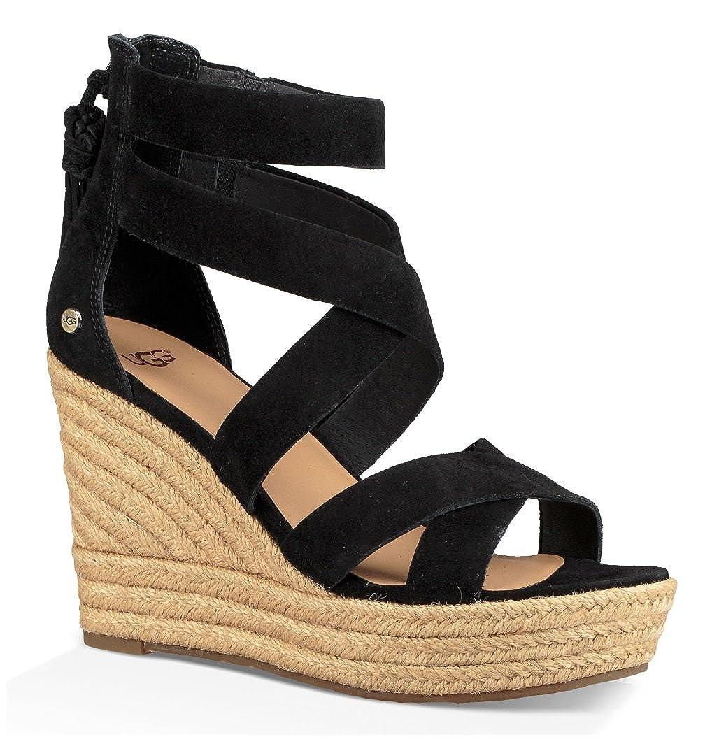 32819af0275 UGG Womens Raquel Wedge Sandal, Black, Size 6: Amazon.ca: Shoes ...