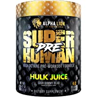 Alpha Lion Pre Workout, Increases Strength & Endurance, Powerful, Clean Energy Without Crash (42 Servings, Hulk Juice)