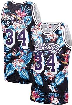 GRYUEN Jersey NBA Lakers Oneal #34 Jersey de Baloncesto Swingman ...
