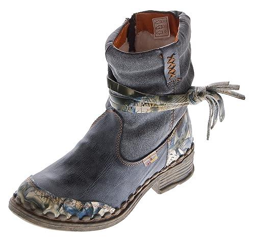 TMA 5050 Botines de piel para mujer, para invierno, forrados, color negro, blanco, verde y azul: Amazon.es: Zapatos y complementos