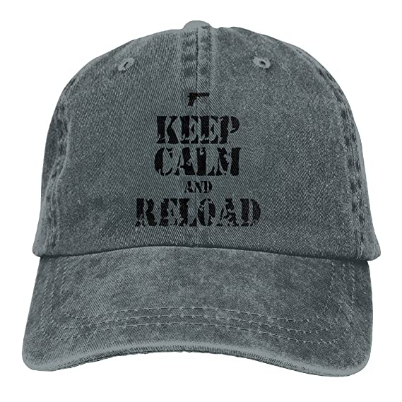 XZFQW Keep Calm and Reload Trend Printing Cowboy Hat Fashion Baseball Cap  For Men and Women Ash at Amazon Men s Clothing store  037e9f7570