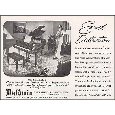 2f40efe2b Amazon.com  RelicPaper 1947 Baldwin Piano  Earned Distinction ...