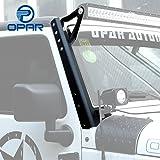 Opar 54inch Straight LED Light Bar Upper Windshield Mounting Brackets for 2007-2017 Jeep Wrangler JK & Wrangler Unlimited - Pair