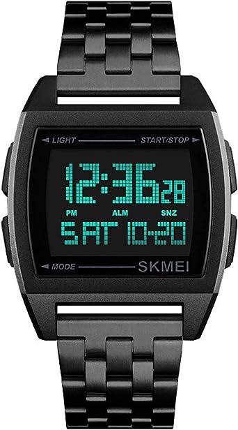 Relojes Digital Rectángulo Multifunción Relojes Hombre Cronómetro ...