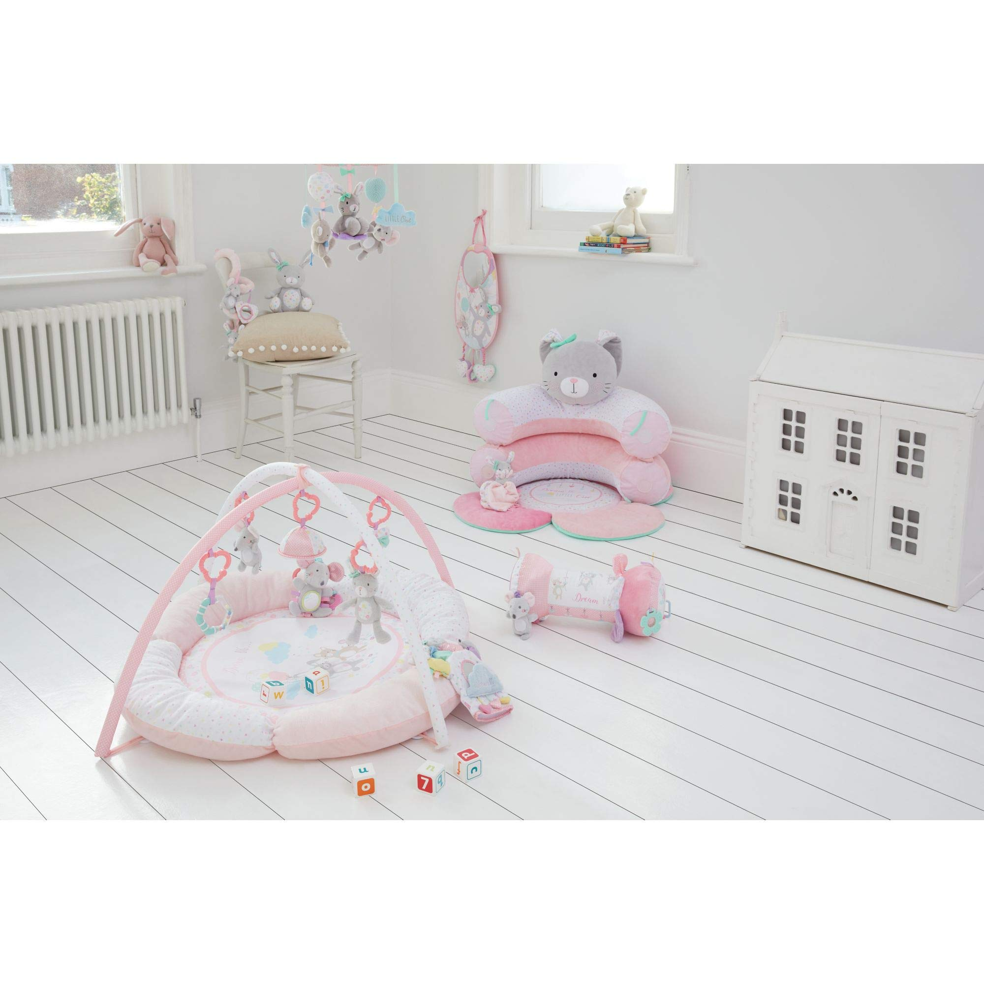 Mothercare Confetti Party Tummy Time Roller Pink Chimes From Birth