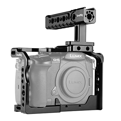 SMALLRIG GH5/GH5S Cage Jaula con Top Handle para Panasonic GH5 ...