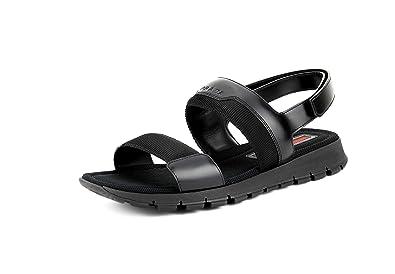 b564637c89cc Prada Men s Nastro Spazzolato Double Strap Sandals