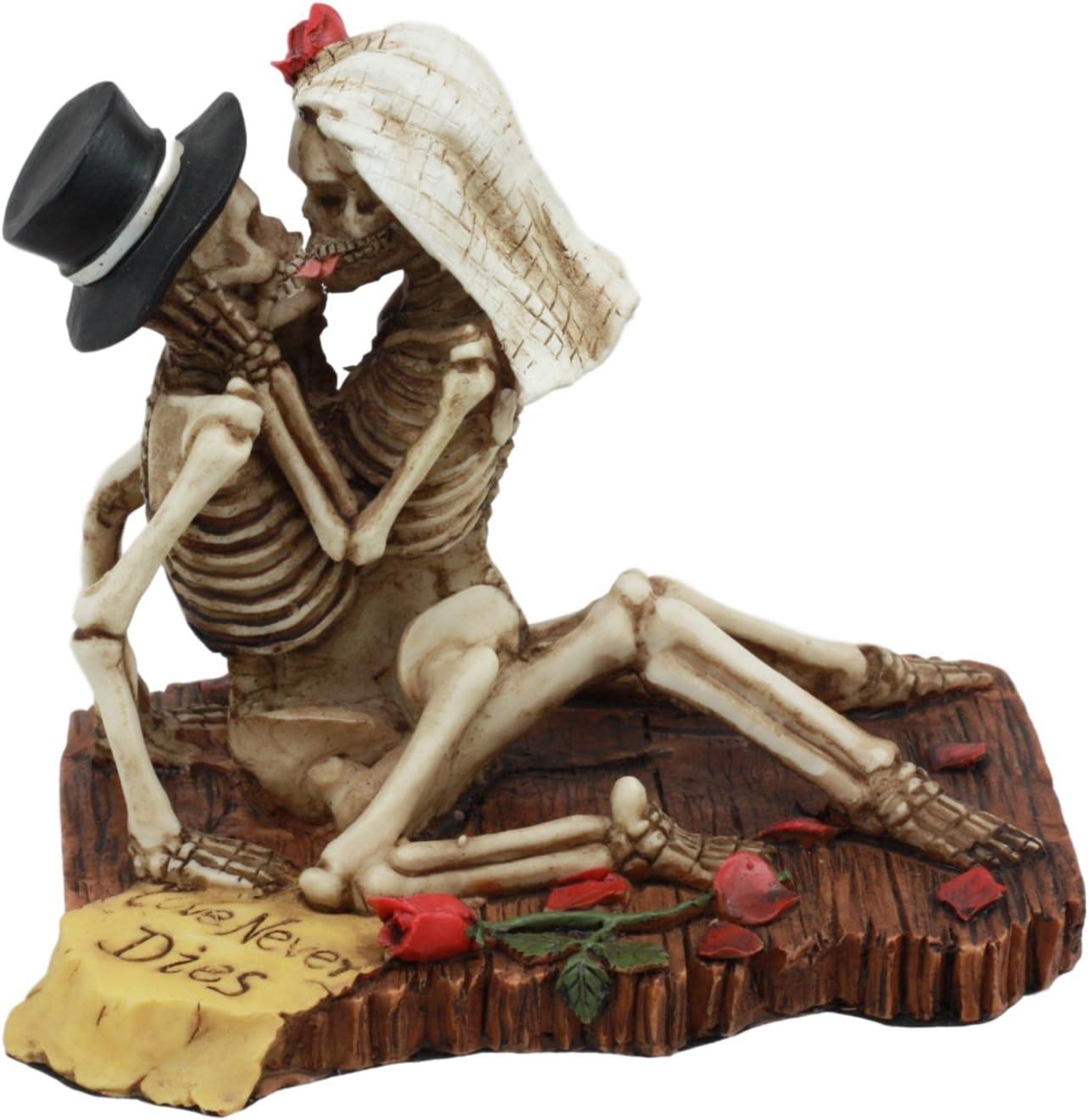 Gifts & Decors Wedding Skulls Love Never Dies Stranded CAST Away Skeletons Figurine