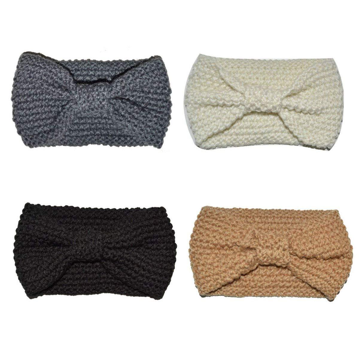 Bekleidung Regenbekleidung DRESHOW 4 Stück Damen Elastische Blume Gedruckt Stirnbänder