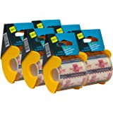 Seal-It Super Clear Shipping Tape on PalmGuard Dispenser 2 Inches x 800 Inches, Pack of 6, 4,800 Inches Total