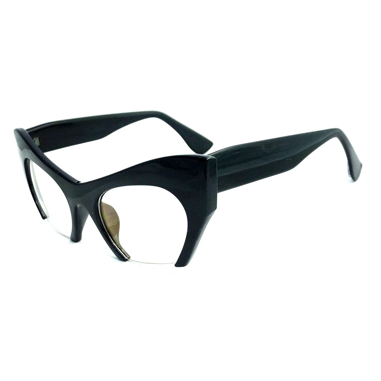 Amazon.com: RETRO Hign Bottom Cut Women Cat Frame Clear Lens Eye ...