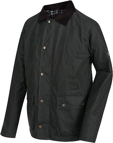 Regatta Country Wax Chaqueta Encerada Repelente Al Agua con Ribete de Pana En El Cuello Jackets Non-Waterproof Hombre