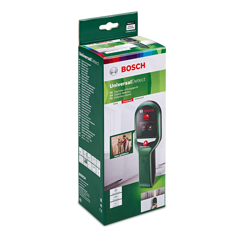 Bosch Detector digital UniversalDetect (4 pilas AAA, cartón, profundidad maximima Deteccion metales no ferrosos: 50 mm, metales ferrosos: 100 mm, ...