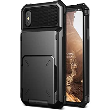 best loved a6209 d48b3 iPhone X Case VRS Design [Black] Protective wallet case with 5 Card slot |  Damda Folder | Shockproof Dual layer phone case for Apple iPhone X / iPhone  ...