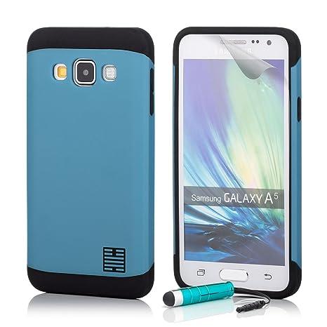 32nd Funda Armadura Rigida Slim Armour con Doble Carcasa para Samsung Galaxy A5 (2015) SM-A500 - Azul Claro
