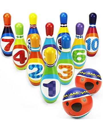 IPlay ILearn Kids Bowling Play Set Foam Ball Toy Gifts Educational Early