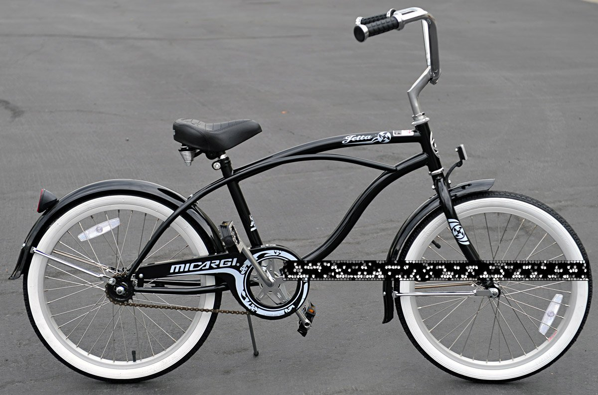 Micargi Jetta Boy S Black Beach Cruiser Bike Bicycle
