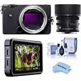 """Sigma fp Mirrorless Digital Camera with 45mm f/2.8 DG DN Contemporary Lens - Bundle with Atomos Ninja V 5"""" Touchscreen Record"""