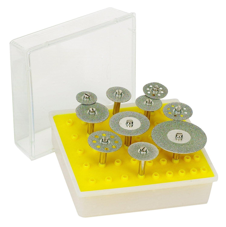 10pc DIAMOND CUT-OFF WHEEL SAW BLADE FITS DREMEL mandrel 200 Grit - Sizes: 1 1/2, 1 1/8, 1, 3/4, 5/8, 7/8 ** HOT SELLING 1 1/8 1 3/4 5/8
