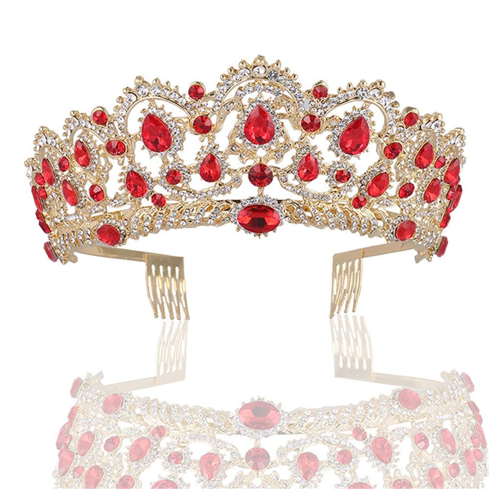 Xhtoe Corona Cristal Tiara Rhinestone Corona Oro Princesa ...
